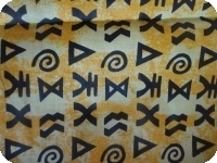 Piece of African fabric 100% cotton