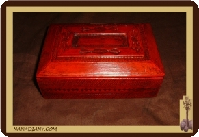 Tuareg leather box red