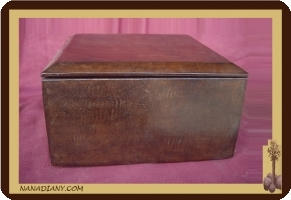 Tuareg leather jewelry box, or other