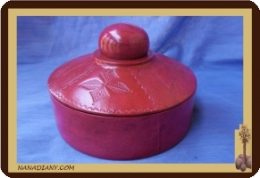 Tuareg leather jewelry box