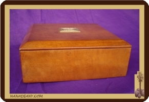 Leather Tuareg tea box