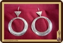 Tuareg earrings in sterling silver. 