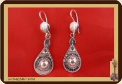 Boucles d'oreilles argent massif  Ref : C1-B06