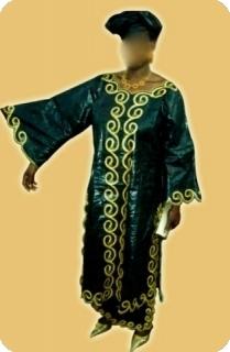 Boubou Robe/boubou bazin riche  Mali mod�le ref 5002
