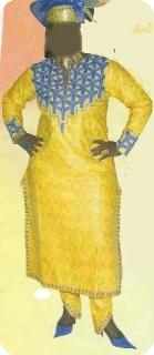 Robe/boubou bazin riche  Mali  mod�le ref 5003