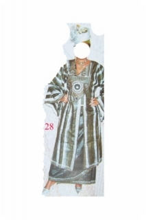 Boubou robe bazin riche art et artisanat africain du Mali  modèle ref 5007