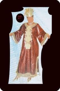 Robe/boubou bazin riche Mali mod�le ref 5006