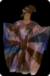 Bubu african dress in bazin riche from Mali Ref 5600