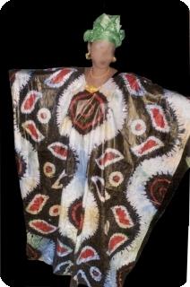 Bubu african dress in bazin riche from Mali Ref 5601