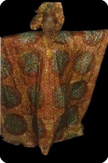 Bubu african dress in bazin riche from Mali Ref 5602