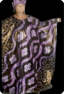 Bubu african dress in bazin riche from Mali Ref 5604