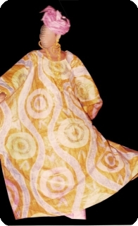 Bubu african dress in bazin riche from Mali Ref 5606