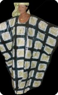 Bubu african dress in bazin riche from Mali Ref 5607