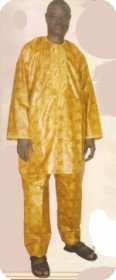 Bubu african in bazin riche from Mali
