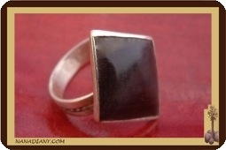 Ebony and Silver sterling and ring