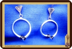 African tuareg silver earrings Mali Africa ethnic jewel