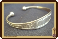 Bracelet touareg en argent massif  Ref 2009