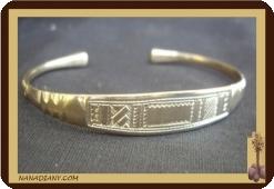 Bracelet touareg en argent massif  Ref 2010