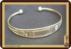 Bracelet touareg en argent massif Ref 2011