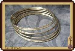 Tuareg seven day bangle, silver sterling  