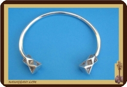 Bracelet  touareg en argent massif  Ref 2002