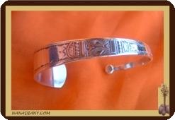 Bracelet  touareg en argent massif  Ref 2003