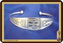 Bracelet touareg en argent massif  Ref 2007