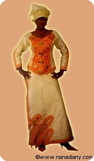 Bubu african dress in bazin riche from Mali