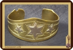 Bronze and silver Tuareg African bracelet Ref 2100