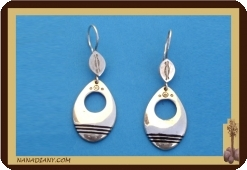 African earrings in silver.Tuareg, Mali