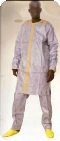 Boubou/djelaba africaine bazin riche  Ref 5715