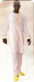 Boubou/djelaba africaine bazin riche  Ref 5716
