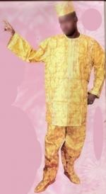 Boubou/djelaba africaine bazin riche  Ref 5717