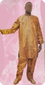Boubou/djelaba africaine bazin riche  Ref 5718