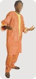 Boubou/djelaba africaine bazin riche  Ref 5721