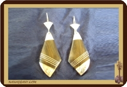 Tuareg earrings (silver and ebony)