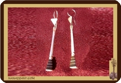 African tuareg silver earrings Mali Africa ethnic jewel ref 4006