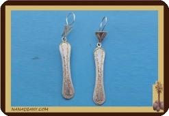 African tuareg silver earrings Mali Africa ethnic jewel ref 4004