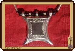 Massive silver Tuareg necklace and ebony 
