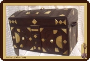 Tuareg leather storage chest
