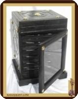 Tuareg leather storage chest ref D301MN
