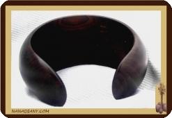 Massive ebony bracelet (Large) Ref 2402