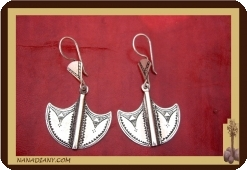 Silver African Tuareg earrings