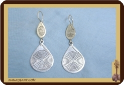 African Tuareg earrings (silver)