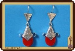 Tuareg  Ohrringe (Silber/Glasperle)  Ref: 4601