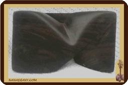 Bague en bois noir ébène massif ref 1400