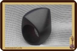 Bague en bois noir ébène massif ref 1401