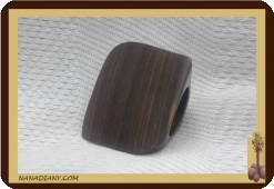 Real Ebony ring Black wood ref 1404