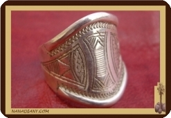 African touareg ring in sterling silver 