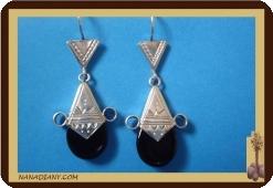 Tuareg  Ohrringe (Silber/Glasperle)  Ref: 4603